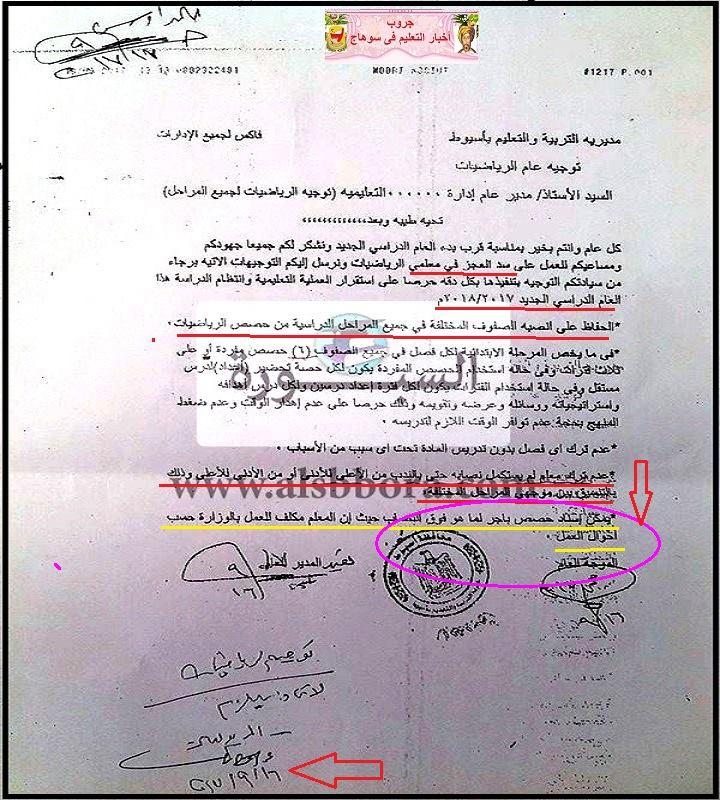 بالمستندات.. عدم قانونية تحميل المعلم فوق نصابه القانوني من الحصص او إلغاء الاشراف الفني على المادة 221