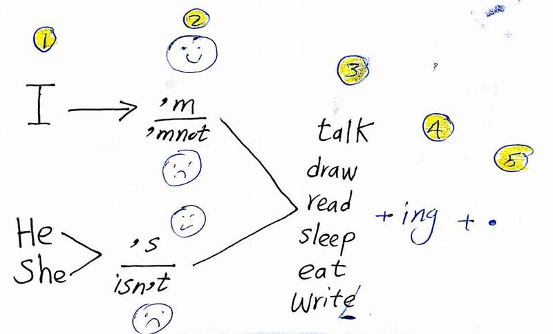 شرح كتابة الجملة في اللغة الانجليزية مطلوبة في امتحان الصف الثالث الابتدائي 238