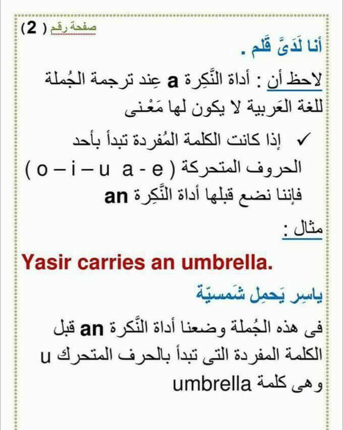 استخدام an و a و any و some  و الفرق بينهم 253