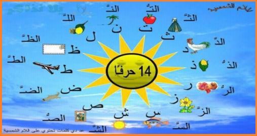 شيتات شرح اللام الشمسية واللام القمرية بسهولة للأطفال 275