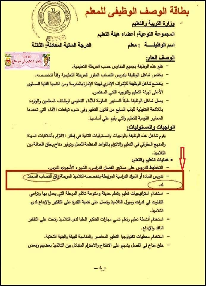 بالمستندات.. عدم قانونية تحميل المعلم فوق نصابه القانوني من الحصص او إلغاء الاشراف الفني على المادة 318