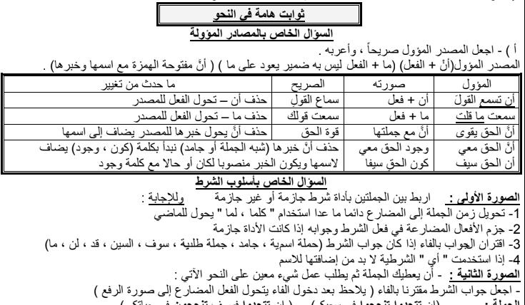 مراجعة ليلة امتحان اللغة العربية للصف الثالث الثانوي أ/ محمد رويشيد 33109