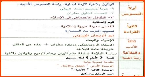 اقوى مذكرة لغة عربية ثالثة ثانوي 2019 مستر ادريس الشريف 3313