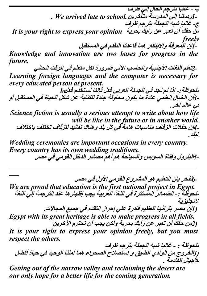 فن الترجمة - كيف تترجم ؟ هام جدا لكل طلاب ثانوى 3388