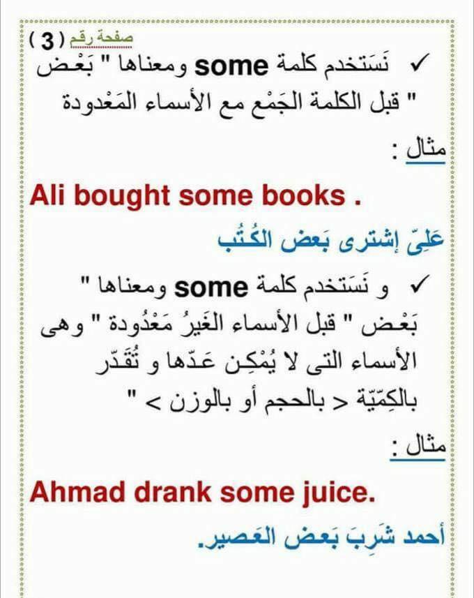 استخدام an و a و any و some  و الفرق بينهم 343