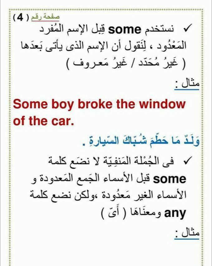 استخدام an و a و any و some  و الفرق بينهم 430