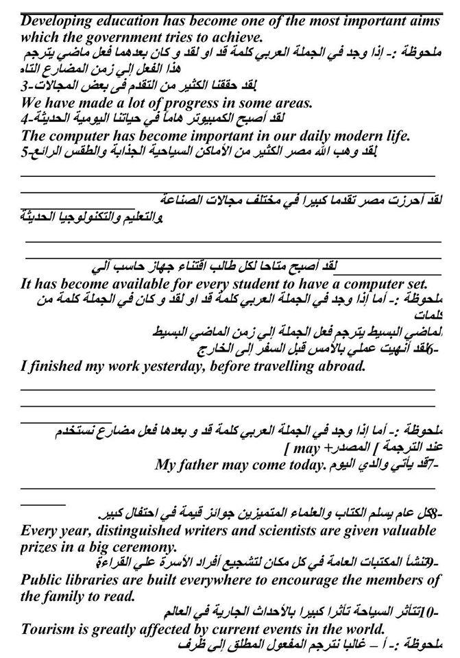 فن الترجمة - كيف تترجم ؟ هام جدا لكل طلاب ثانوى 4340