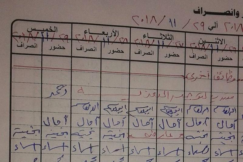 التعليم: عقوبة ترك العمل بدون توقيع انصراف 47322810