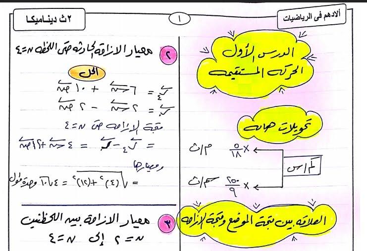 مراجعة الديناميكا + الاحتمالات للثانى الثانوى الترم الثانى ٢٠١٨ مستر محمد أدهم  47510