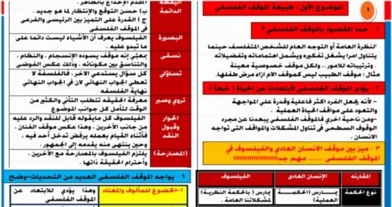 مراجعة الفلسفة والمنطق للصف الثاني الثانوي ترم أول 2019 في 4 ورقات لـ أ/ ماجد شعبان 5607