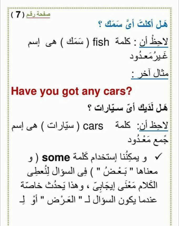 استخدام an و a و any و some  و الفرق بينهم 722