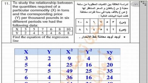 إجابة نماذج بوكليت الاحصاء باللغة الانجليزية للصف الثالث الثانوي لغات 7750