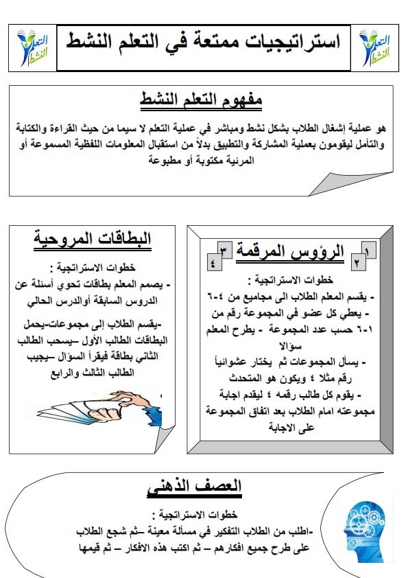 استراتيجيات التعلم النشط 5 ورقات وورد Aa_oo_15