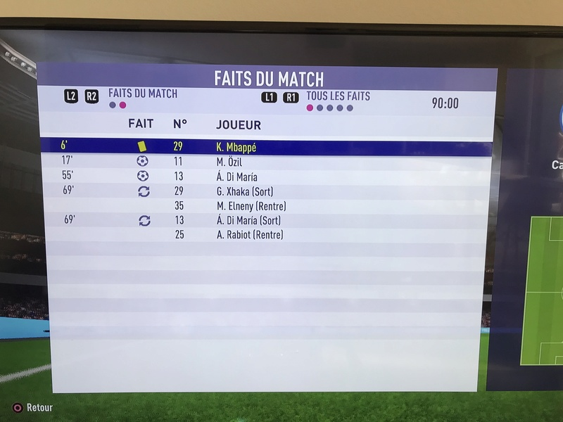 1 er Tour Arsenal vs Paris Saint Germain Aller Ac931710