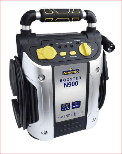 Pour démarrer véhicule  avec batterie à plat: Booster avec lampe de secours Norauto N900 17 Ah 12 V Captur33