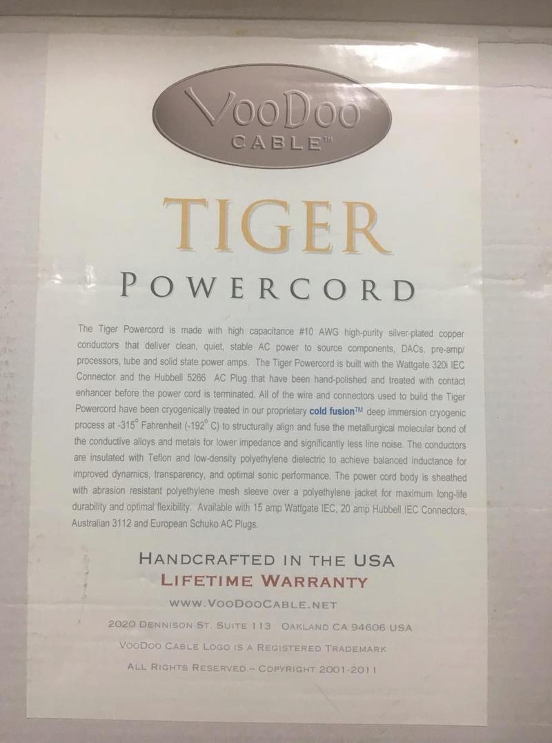 VooDoo Powercord (Used) Tiger Series 25435210