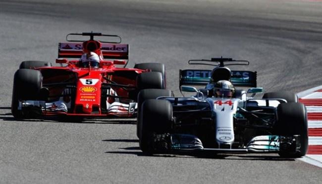 Hamilton perde liderança para Vettel na largada, consegue reação, vence nos EUA e põe mão no tetra 20171010