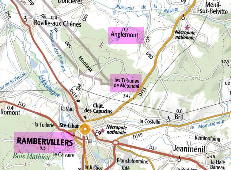 fascicule - Anglemont Vosges ( + Borne 968 ) Retend10