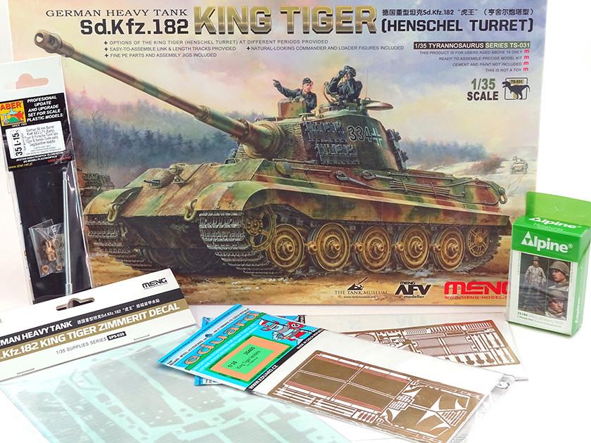 Sd.Kfz. 182 King Tiger (turret Henschel) MENG 1/35° + Full interior et Zim MENG + P.E Eduard + tube Aber [Terminé] Dsc04046