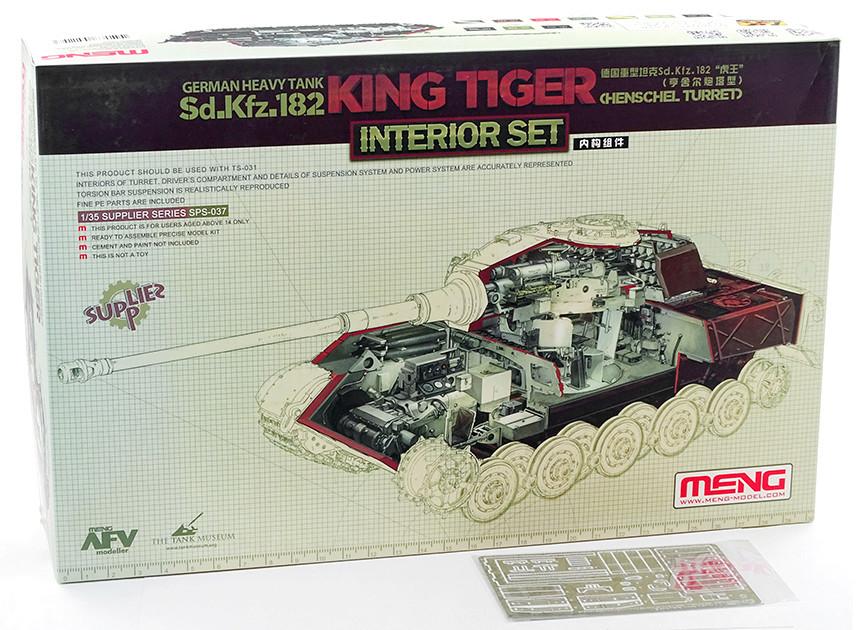 Sd.Kfz. 182 King Tiger (turret Henschel) MENG 1/35° + Full interior et Zim MENG + P.E Eduard + tube Aber [Terminé] Dsc04047
