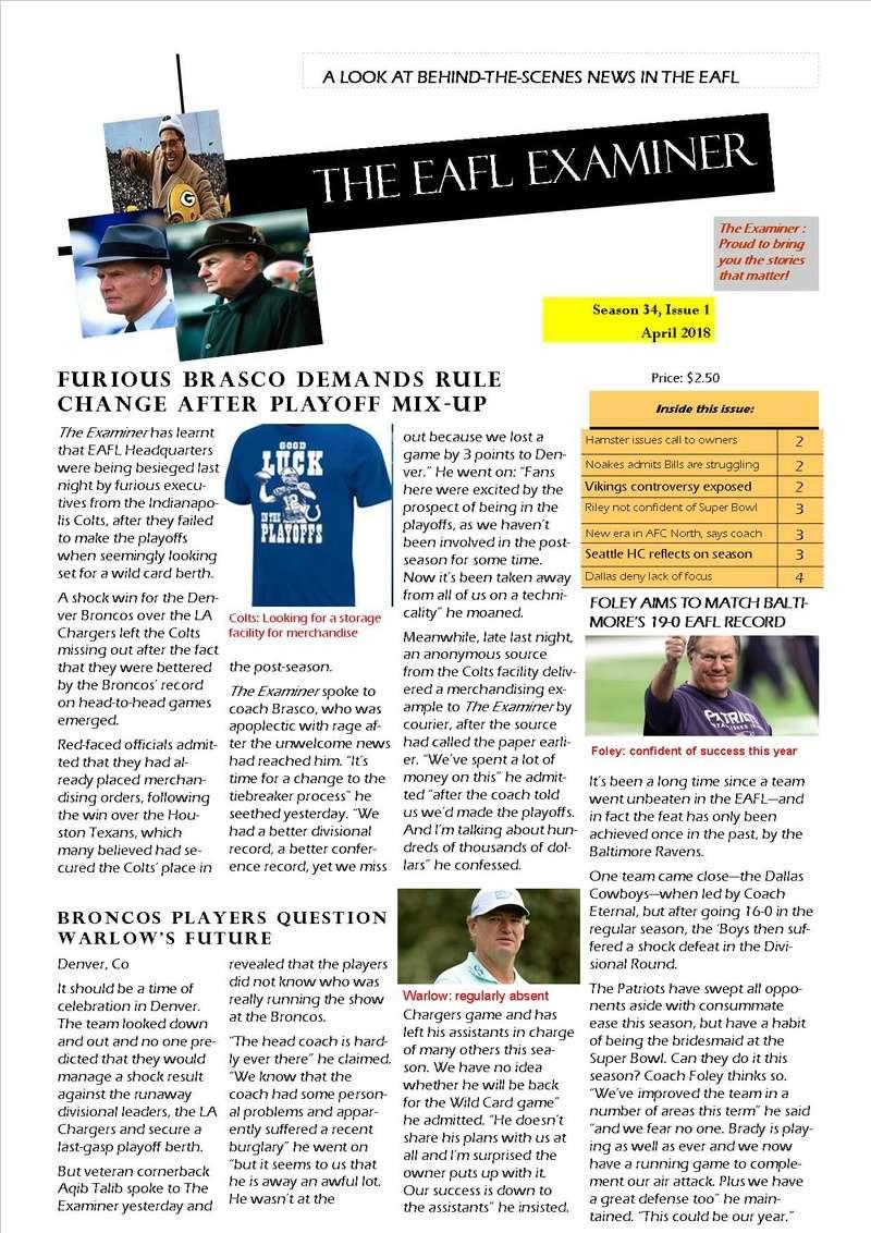 The EAFL Examiner, Season 34, Issue 1 Eafl_e10