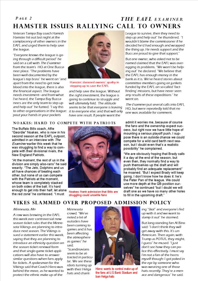 The EAFL Examiner, Season 34, Issue 1 Eafl_e11