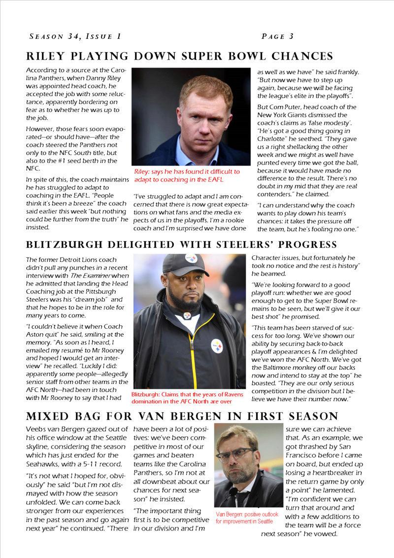 The EAFL Examiner, Season 34, Issue 1 Eafl_e12