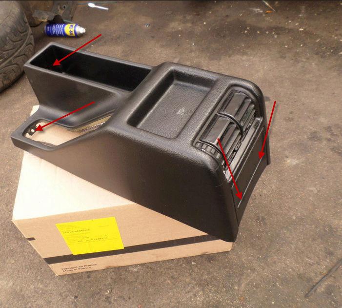 demontage console centrale entre sièges 16-04-10