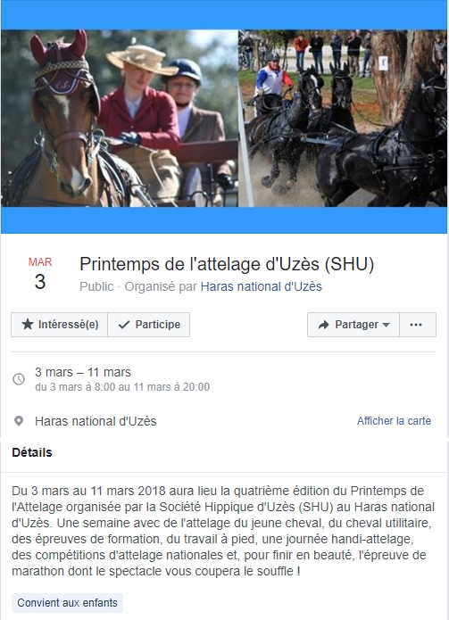 (30 Gard) Semaine de l'Attelage à Uzès (du 3 au 11 mars) 20180312