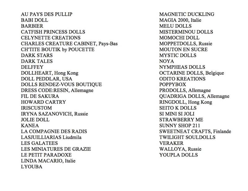 Dolls Rendez-Vous PARIS  - 03/12/2017 - Liste des stands p.4 - Page 4 Listpr11