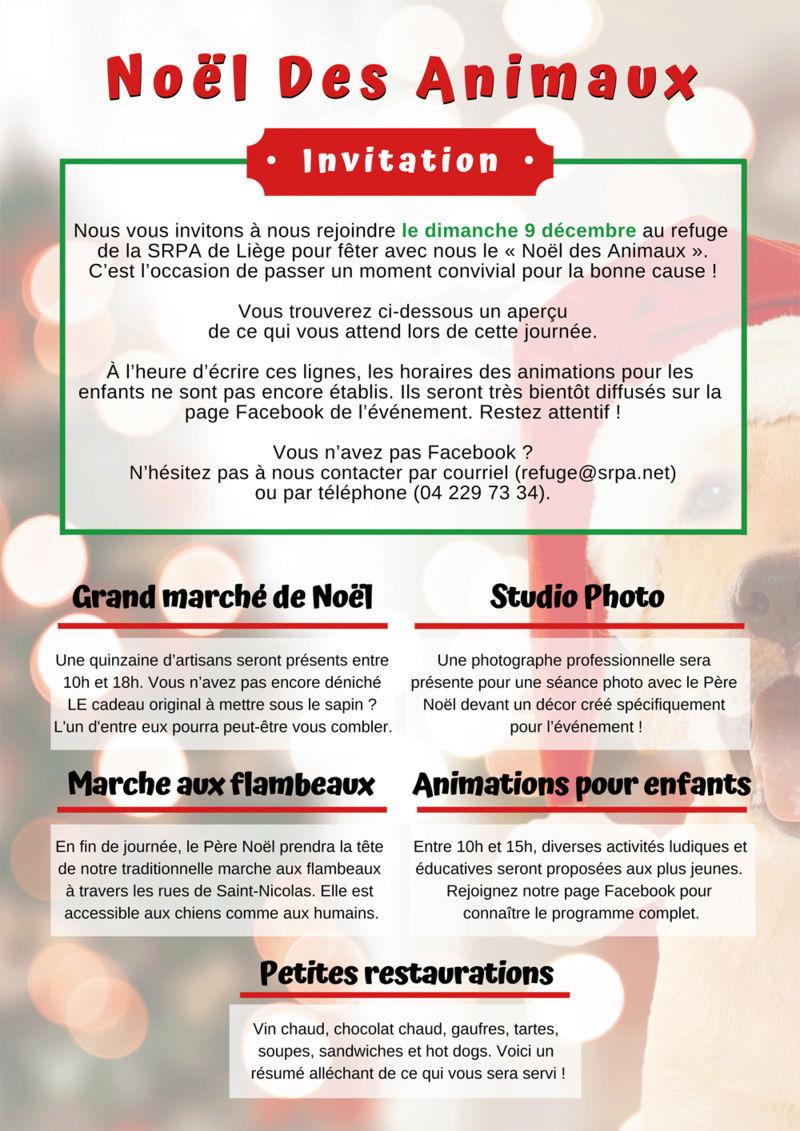 Noël des Animaux et Marche aux Flambeaux (9 décembre 2018) Affich12