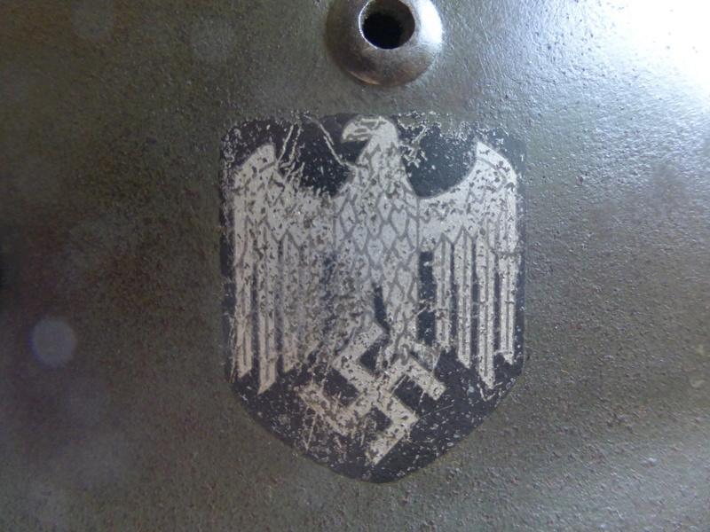 Authentification d'insigne sur un casque modele 35 P1030611