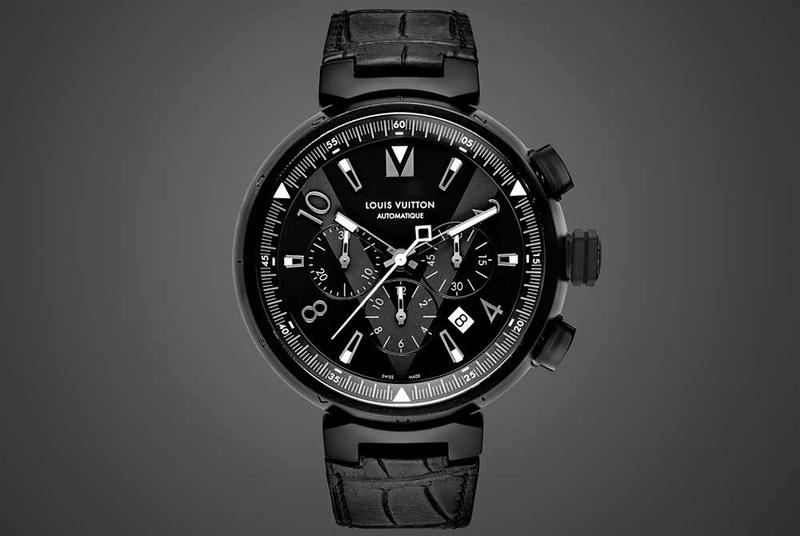 2514489a1e News : Louis Vuitton Tambour All Black Chrono