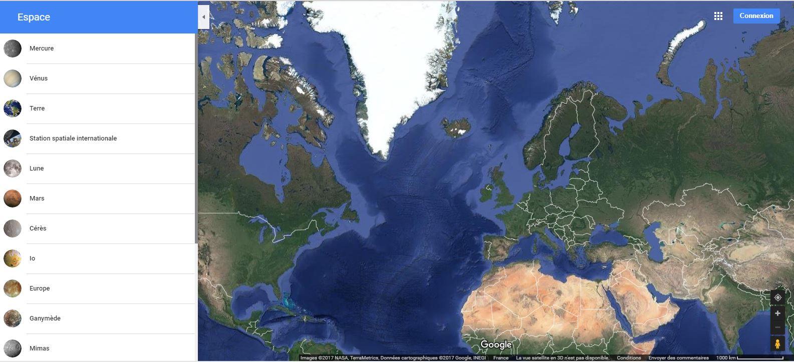 Google Maps vous emmène un peu plus près des étoiles Espace10