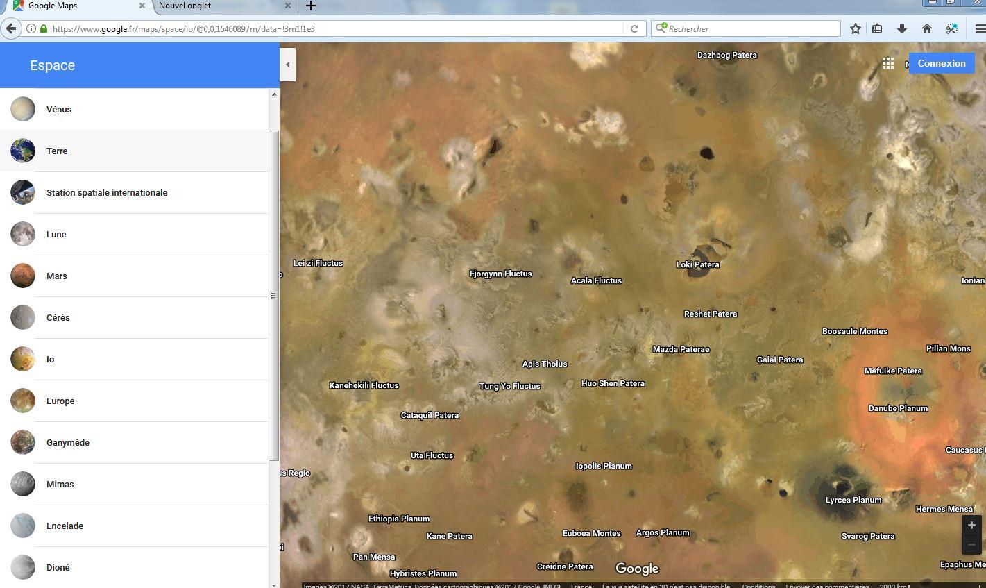 Google Maps vous emmène un peu plus près des étoiles Firefo10