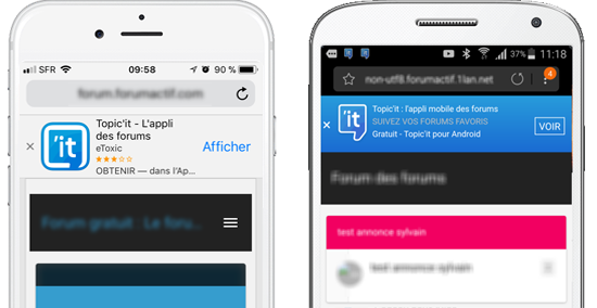 Smart App Banner: highlight the mobile application of your forum ! 4565410
