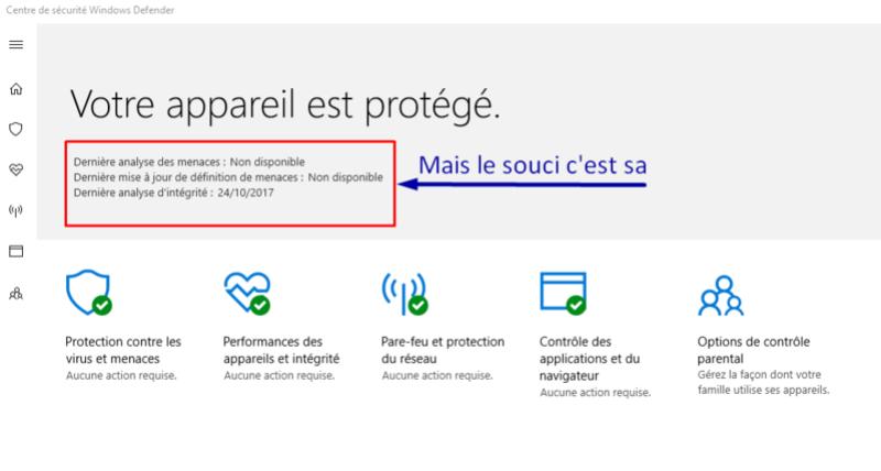 Windows defender paramètre grisé Captur13