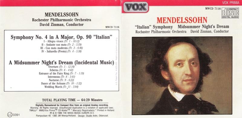 Mendelssohn les symphonies - Page 6 Zinman11