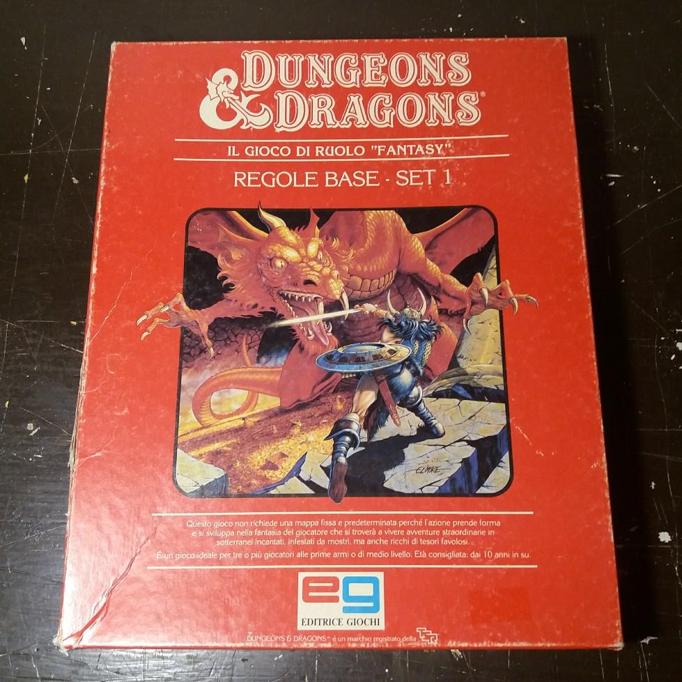 DUNGEONS & DRAGONS SET BASE EDITRICE GIOCHI 1985 EDIZIONE ITALIANA 20180712