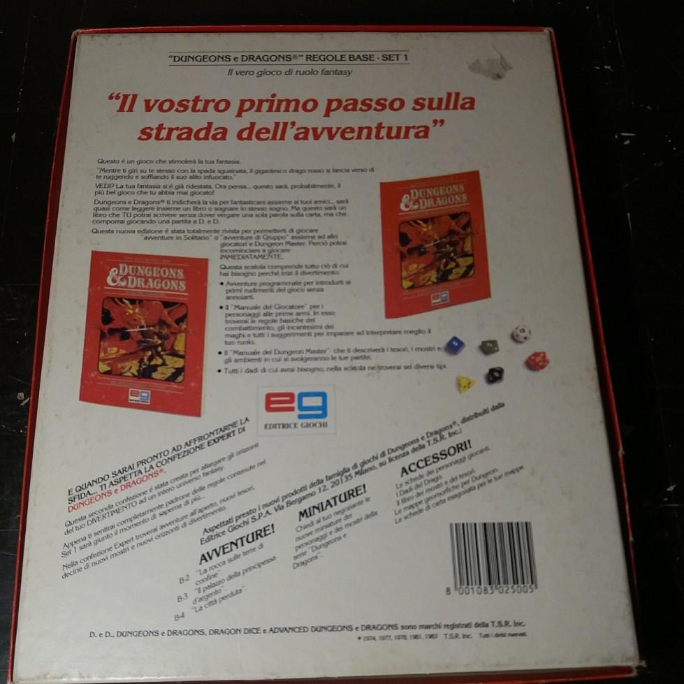 DUNGEONS & DRAGONS SET BASE EDITRICE GIOCHI 1985 EDIZIONE ITALIANA 20180715