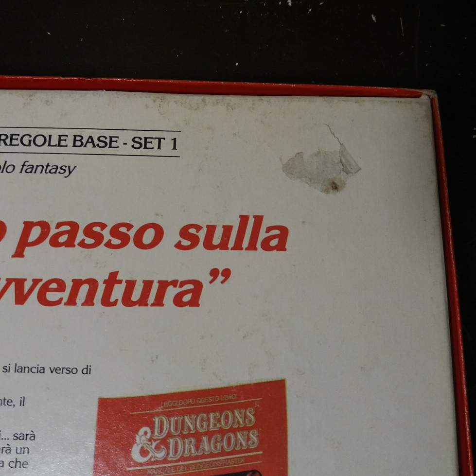 DUNGEONS & DRAGONS SET BASE EDITRICE GIOCHI 1985 EDIZIONE ITALIANA 20180717
