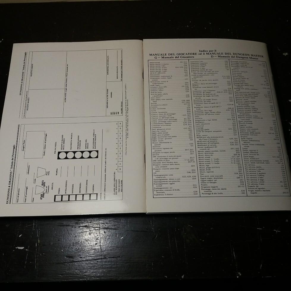 DUNGEONS & DRAGONS SET BASE EDITRICE GIOCHI 1985 EDIZIONE ITALIANA 20180720