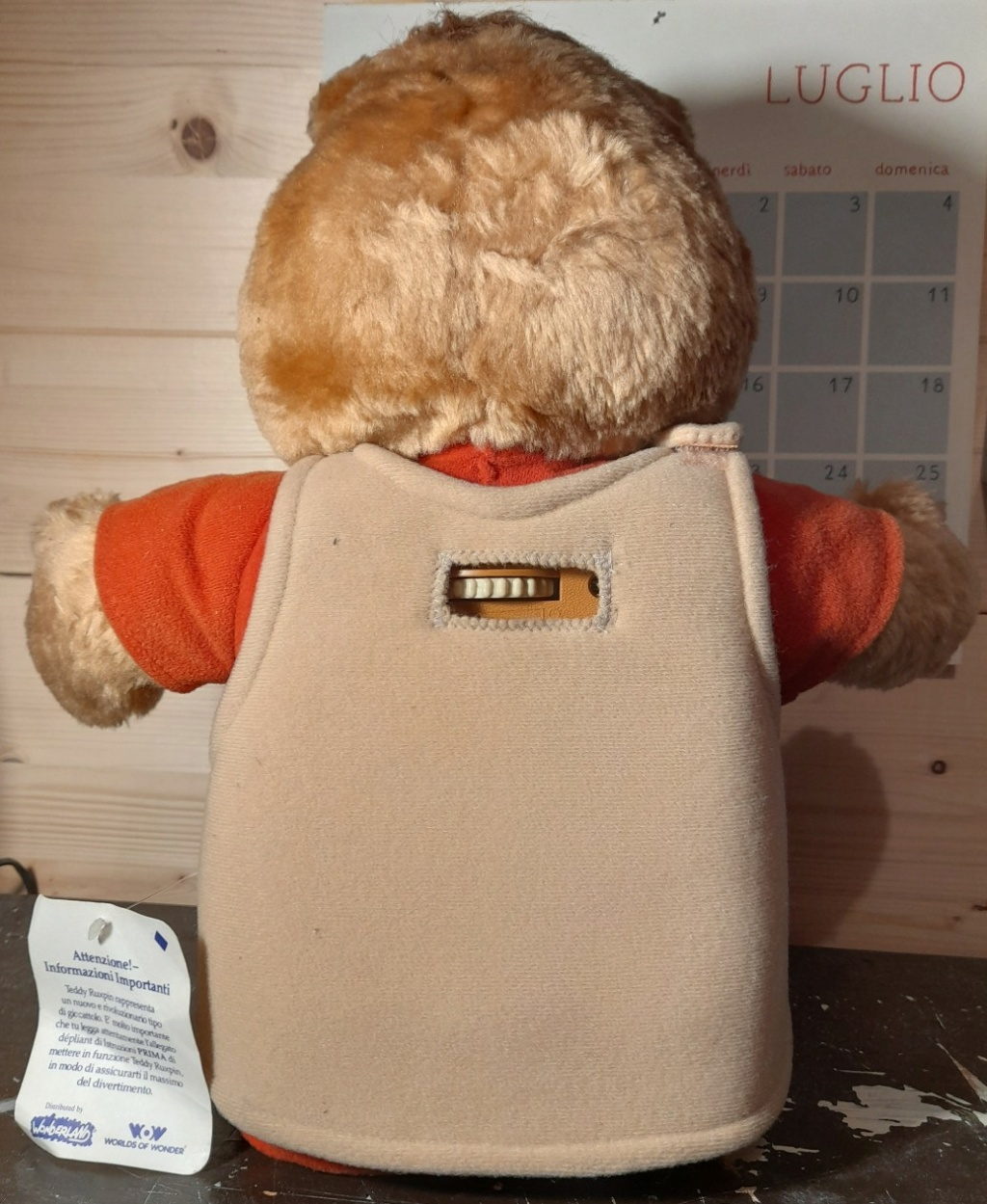 TEDDY RUXPIN ANNO 1985 WOW WORLDS OF WONDERS 20210711
