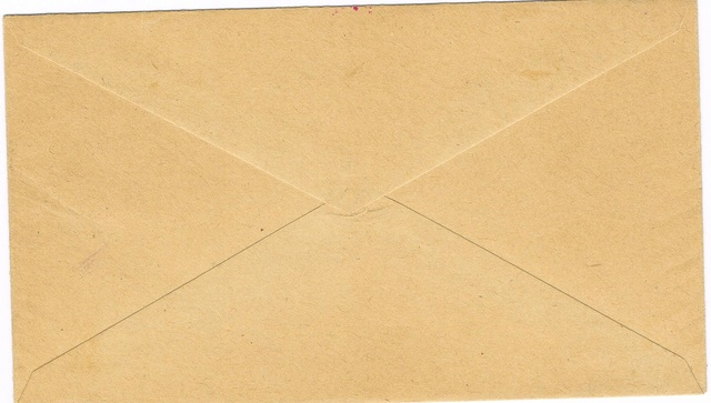 """Lettre locale de Pondichery de 1942 avec au verso un cachet """"Gouvernement de l'Inde Française"""". Ccf05013"""