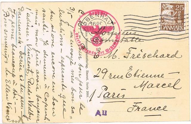 """Cachet """" Refoulé par bureau postal Lyon gare """". Ccf12014"""
