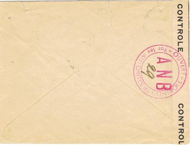 Les censures françaises de la 3° période (Libération) - Indice  «  A N B  » Ccf22011
