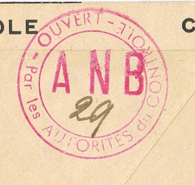 Les censures françaises de la 3° période (Libération) - Indice  «  A N B  » Ccf22012
