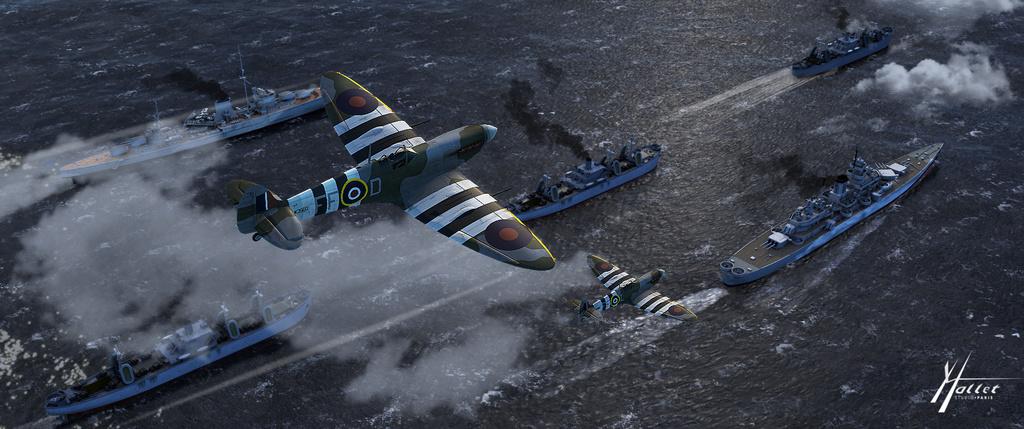 spitfire au dessus de la Manche Libert11