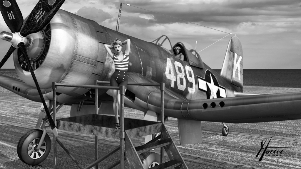 delires pin up et avions - Page 4 Yvette10