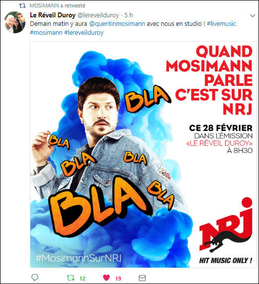 [28/02/2018/08h30] Nrj Belgique - Le  Reveil  Duroy   Captu209